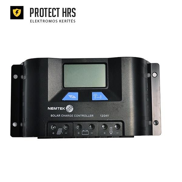Szolár Szabályzó 10A 12V 24V-LCD