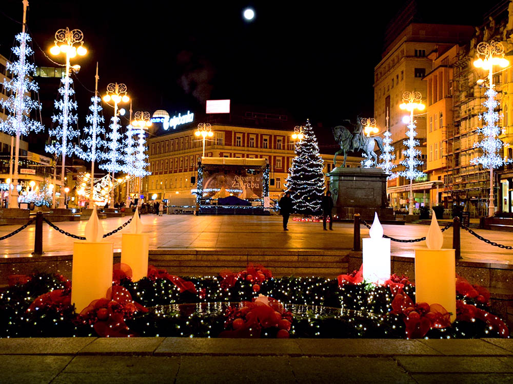 Zágráb és Ljubljana ünnepi fényei