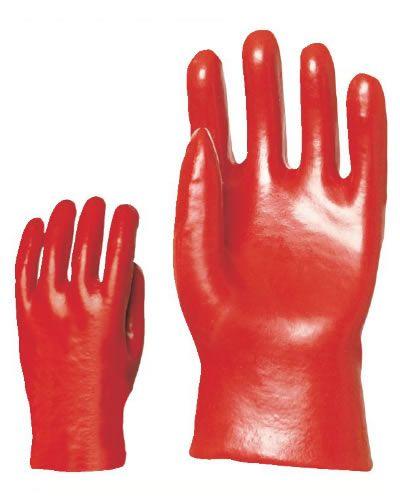 Gumi kesztyű ipari saválló piros