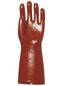 Gumi kesztyű ipari saválló hosszú szárú piros
