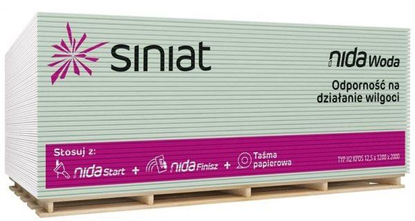 GK tábla impregnált 12,5mm - Siniat Nida (2,4m2/tábla)72db/# BAUplaza Kft.