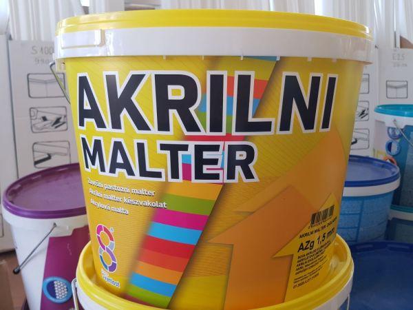 Vakolat 1,5mm kapart fehér 25kg Akrilini Malter BAUplaza Kft.