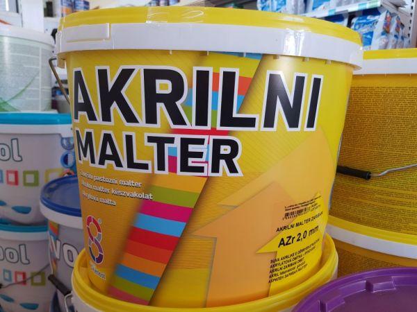 Vakolat 2mm gördülő szemcsés fehér 25kg Akrilini Malter BAUplaza Kft.