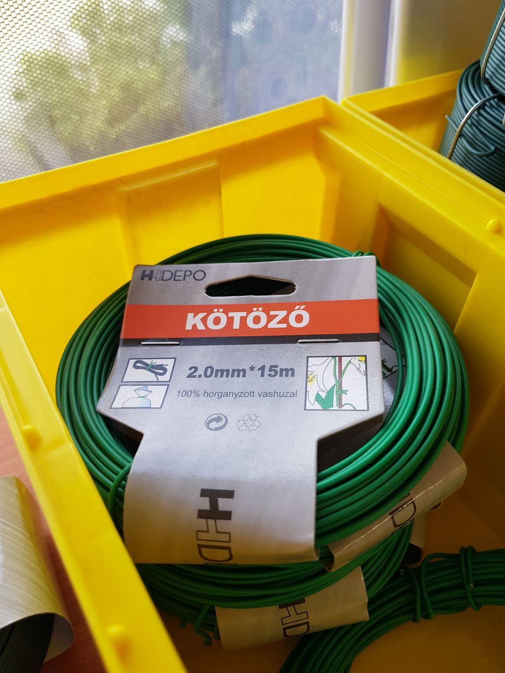 Kötöződrót PVC-s zöld 15fm/2mm BAUplaza Kft.