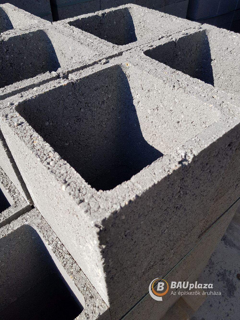 Beton Pillérzsaluzó elem P30 (négyzet,30x30x23cmDobeton60db/# 975kg) BAUplaza Kft.