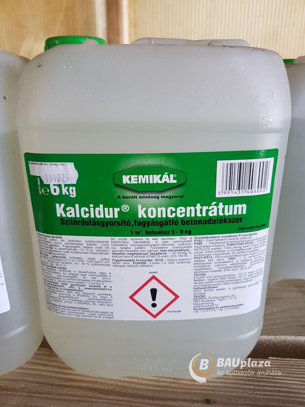 Kalcidur 6 kg/kanna (1m3 betonhoz 3-9kg) BAUplaza Kft.