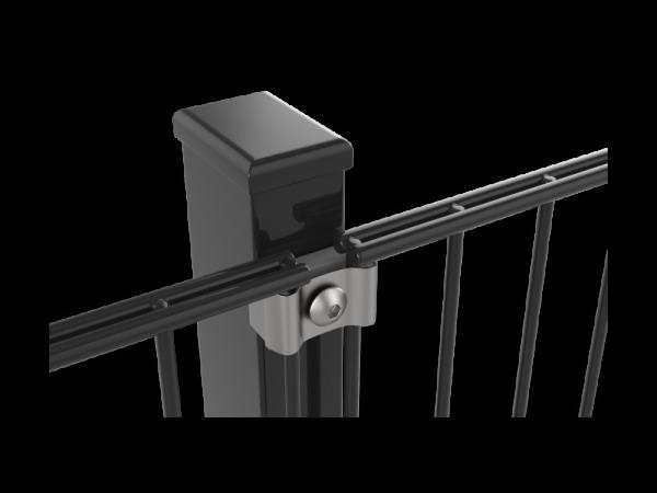 Zártszelvény oszlop, antracit (RAL7016), 60x40x1700mm. (nr.1) BAUplaza Kft.