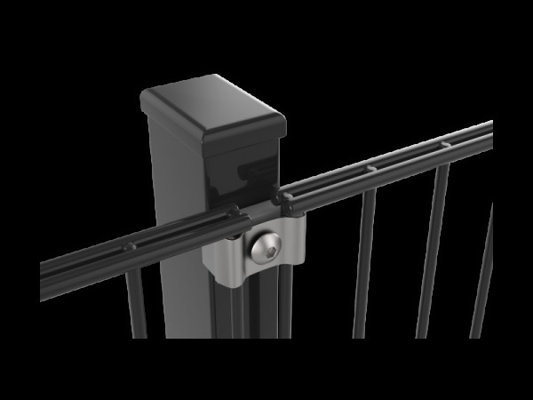 Zártszelvény oszlop, antracit (RAL7016), 60x40x2600mm. (nr.1) BAUplaza Kft.