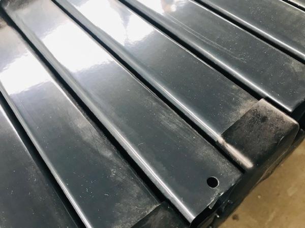 Zártszelvény oszlop, antracit (RAL7016), 60x40x1700mm. (nr.3) BAUplaza Kft.