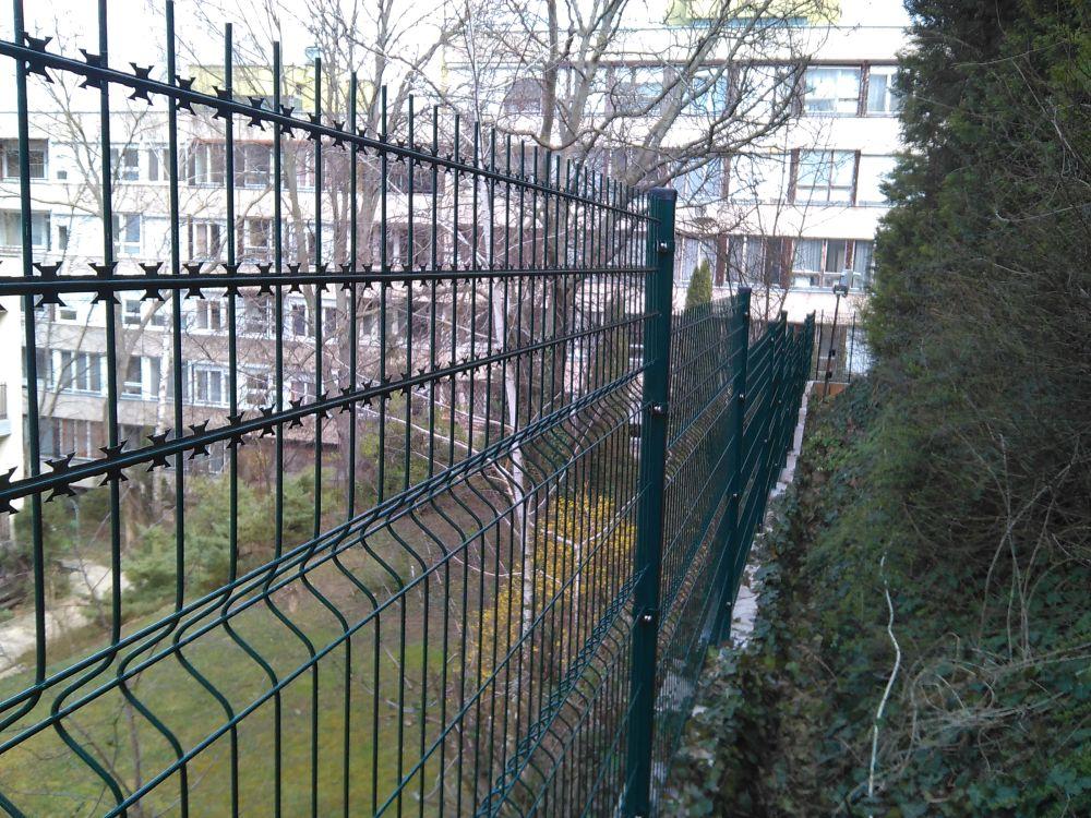3D, Nato (pengés), táblás kerítés, zöld RAL6005, 5mm/1730x2505mm, (nr.3) BAUplaza Kft.