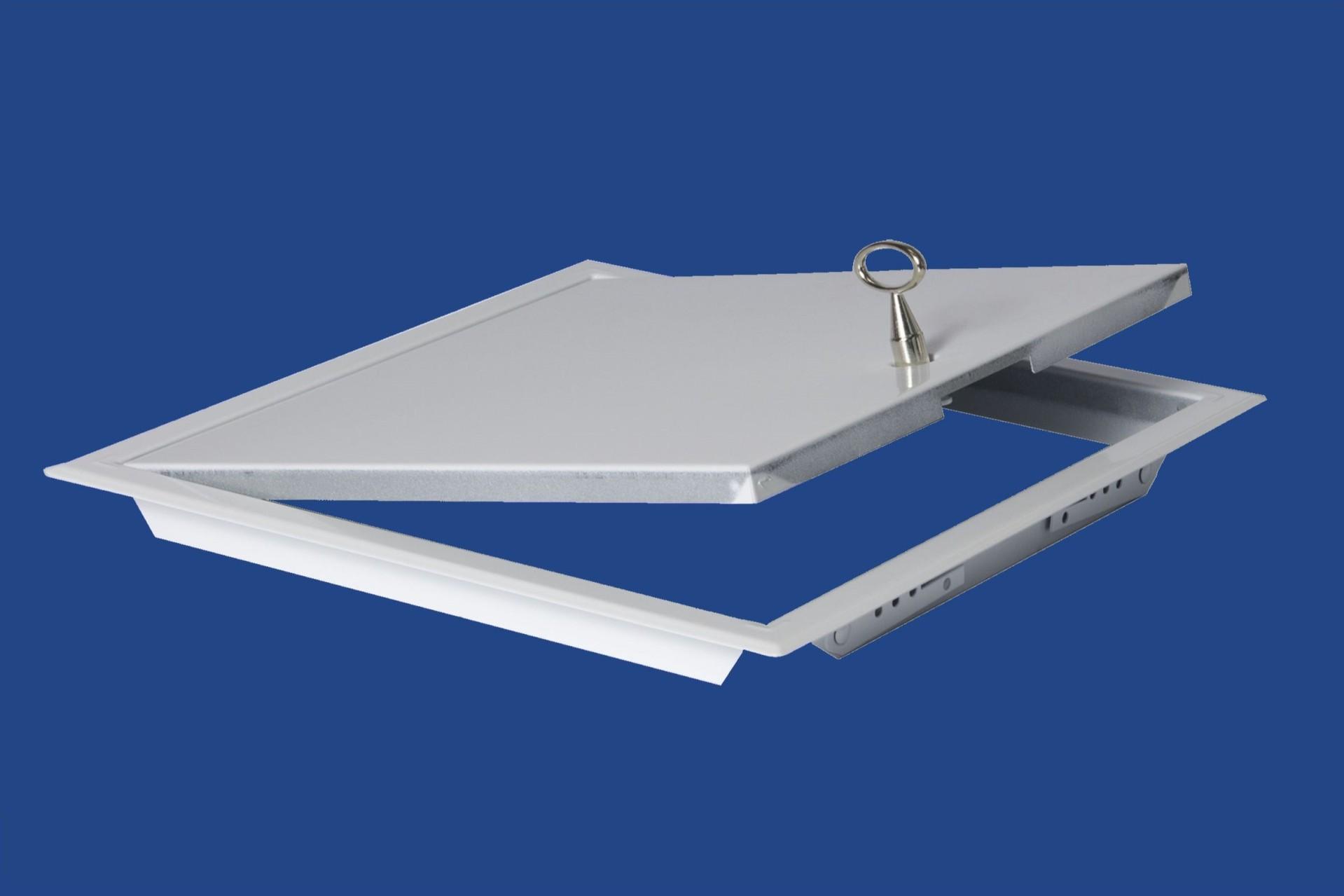 Szervizajtó acél 20x20cm fehér, kulccsal BAUplaza Kft.