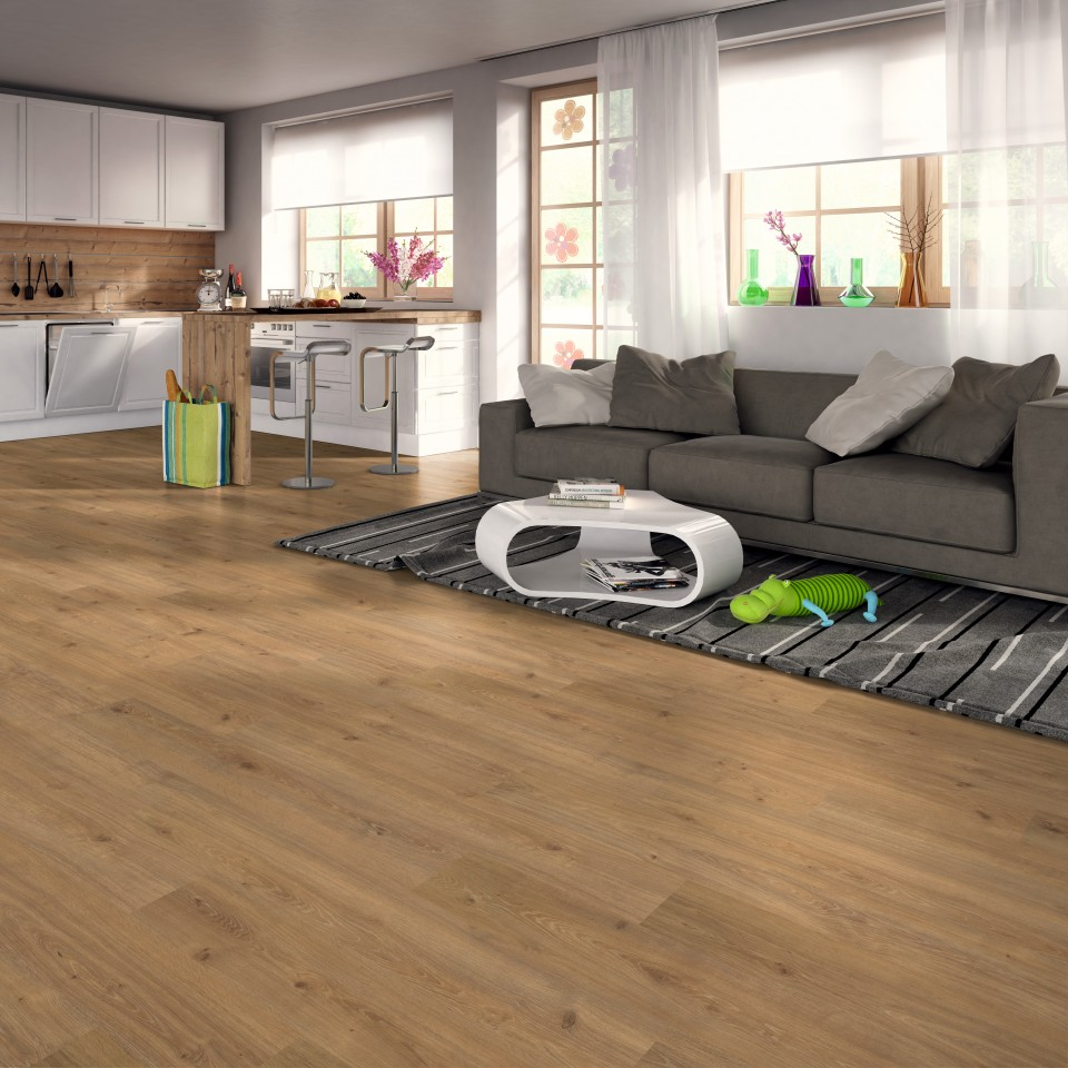 EGGER Basic Oak modern natural Laminált padló EBL035 1.99m2/csomag BAUplaza Kft.