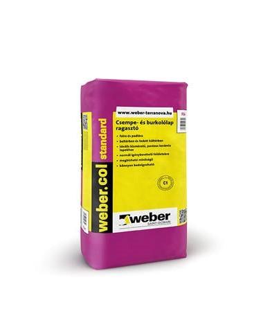 Weber Csemperagasztó beltéri col Standard 25kg/zsák 48zs/# BAUplaza Kft.