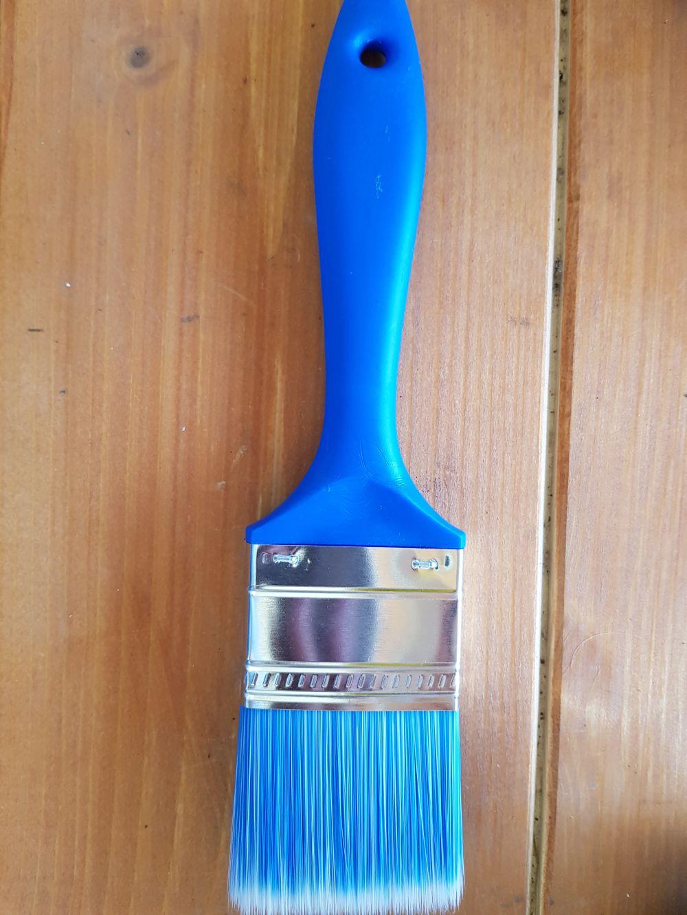 Ecset lazúrozó kék-fehér 2,5