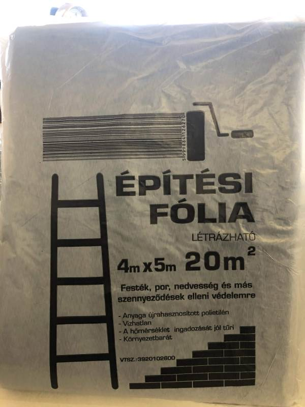 Takarófólia épitési 4x5m (5db/#) BAUplaza Kft.
