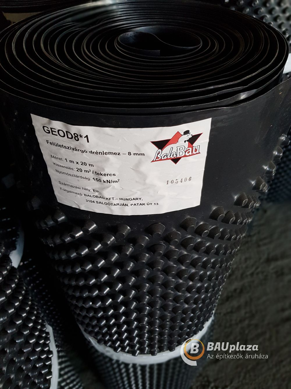 Felületszivárgó lemez 8 mm 2x20m 40 m2/tek. 400g/m2 (drénlemez) BAUplaza Kft.