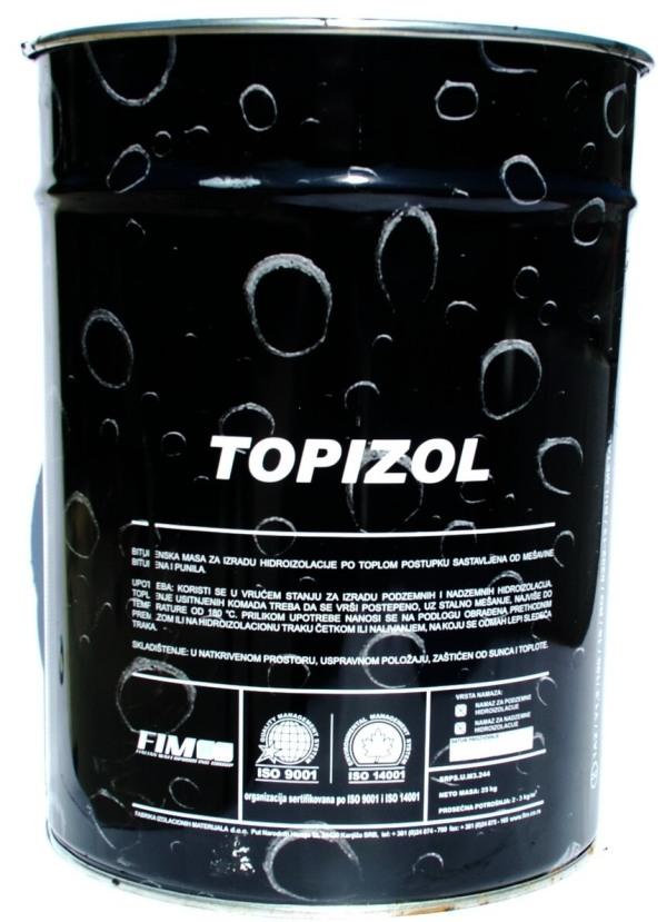 Bitumen Topizol 25 kg vödrös BAUplaza Kft.