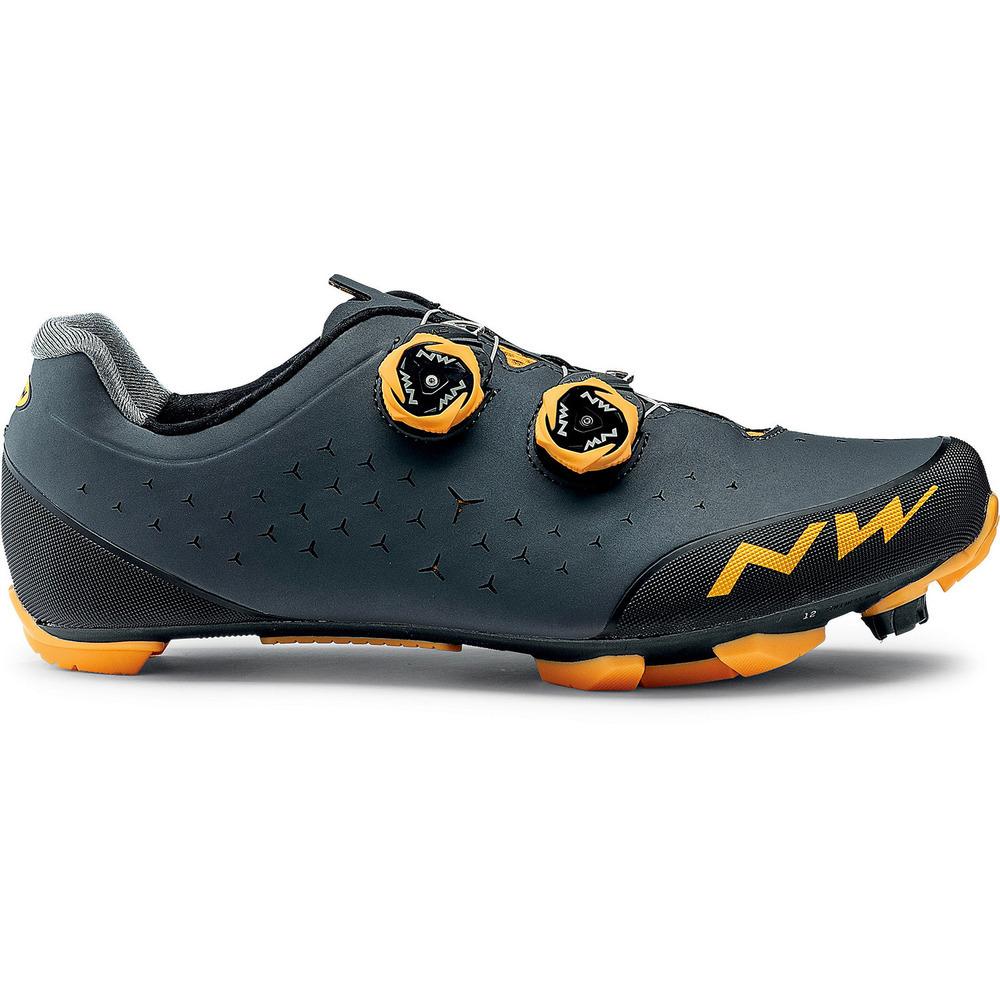 Northwave REBEL 2 MTB cipő - antracit/narancs - 43.5
