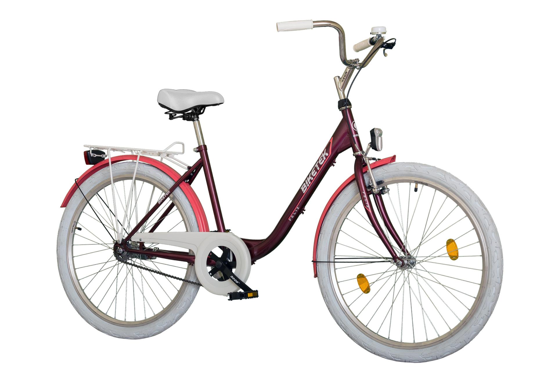 Biketek FELIZ női 26 városi kerékpár - bordó