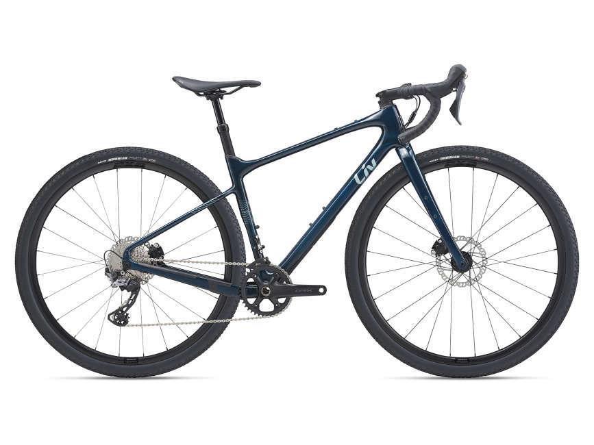 LIV Devote Advanced 1 női gravel kerékpár - sötétzöld - S (2021)