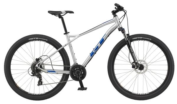 """GT Aggressor Expert férfi 27.5"""" MTB kerékpár - ezüst - L (2021)"""