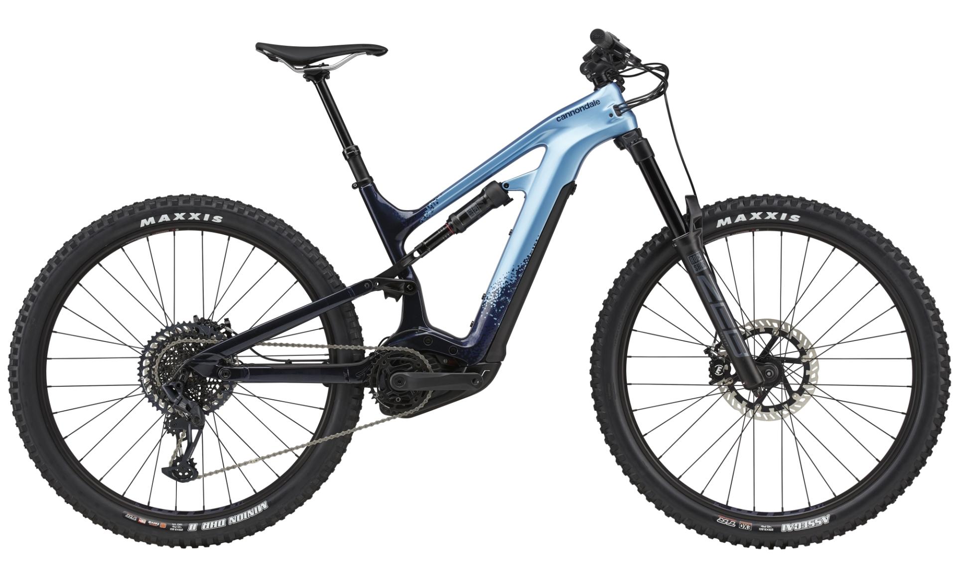 """Cannondale Moterra Neo Carbon 2 férfi 29"""" összteleszkópos MTB pedelec kerékpár - kék - L (2021)"""