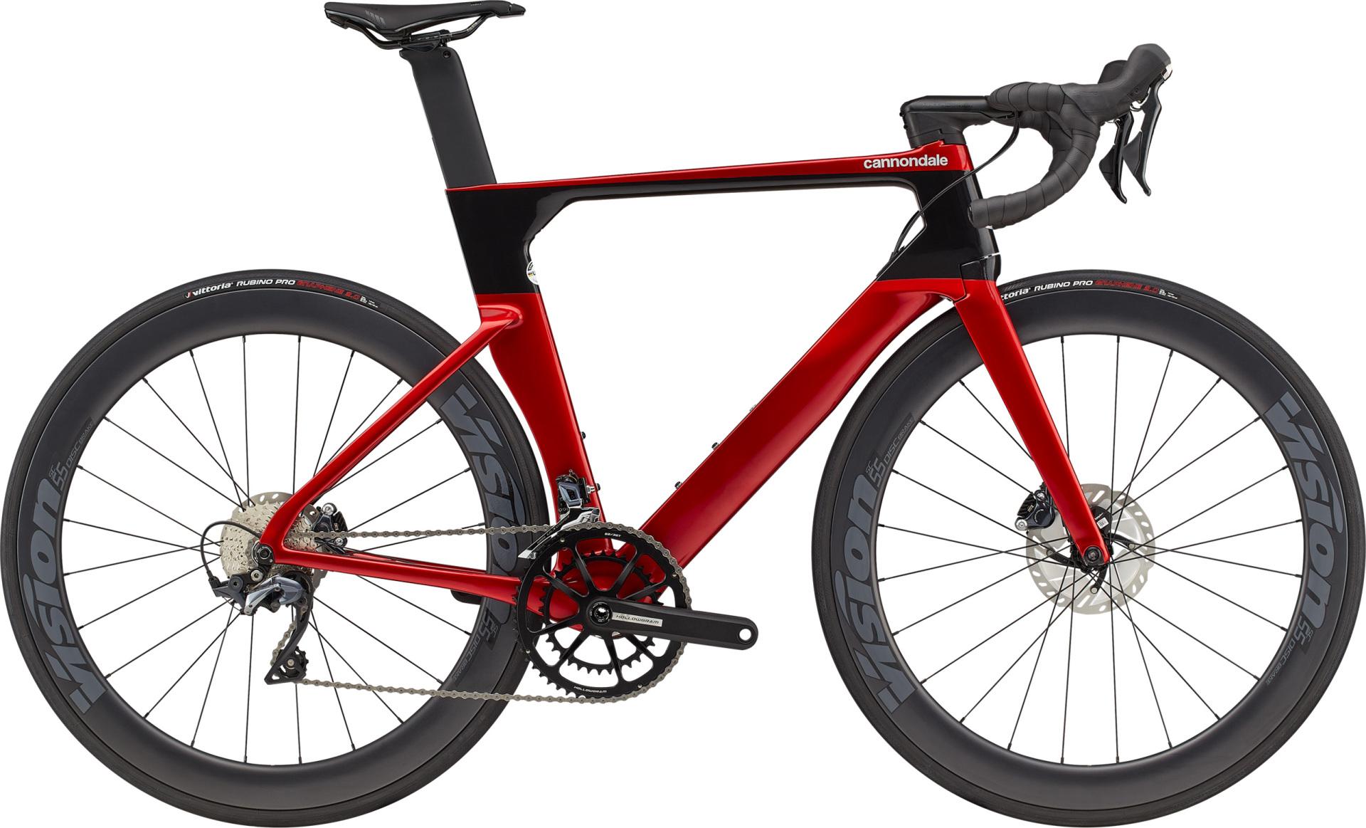 Cannondale SystemSix Carbon Ultegra országúti kerékpár - piros - 54 cm (2021)