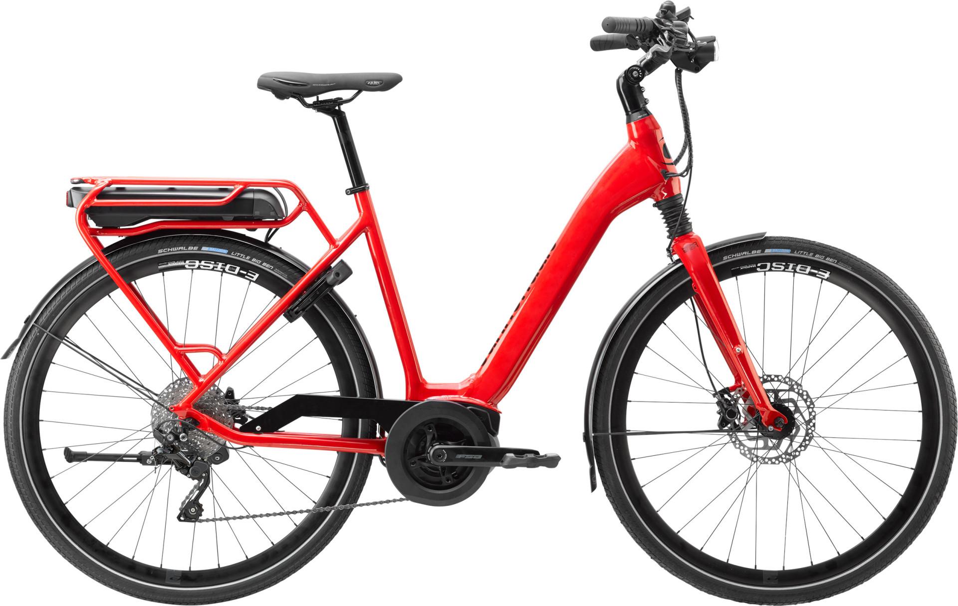Cannondale Mavaro Active City Remixte pedelec városi kerékpár - piros - 47 cm (2021)