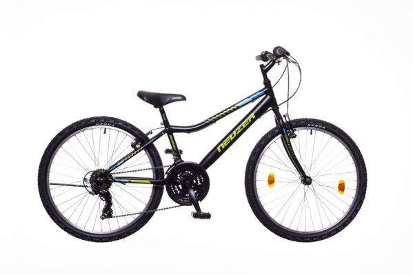 Neuzer BOBBY 24 18S gyermek kerékpár - fekete/zöld (2020)