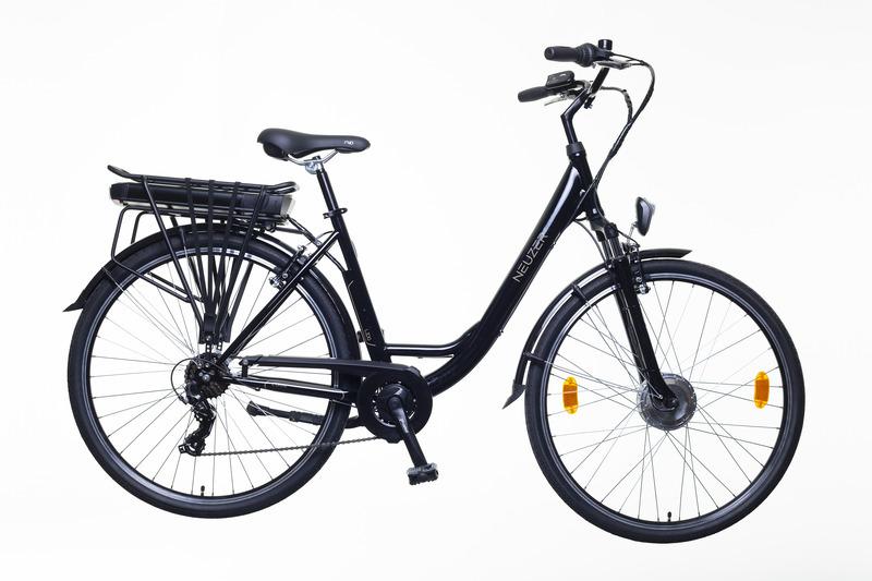Neuzer Lido női pedelec trekking kerékpár - fekete/barna - 19.5