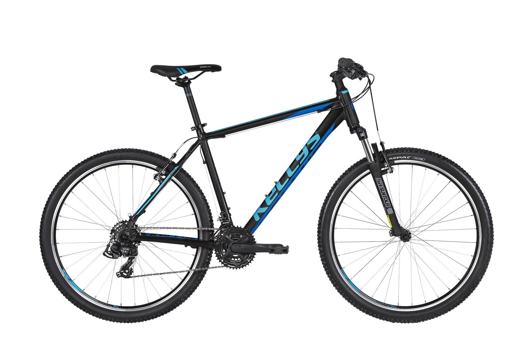 """KELLYS Madman 10 férfi 26"""" MTB kerékpár - fekete/kék - S (2020)"""