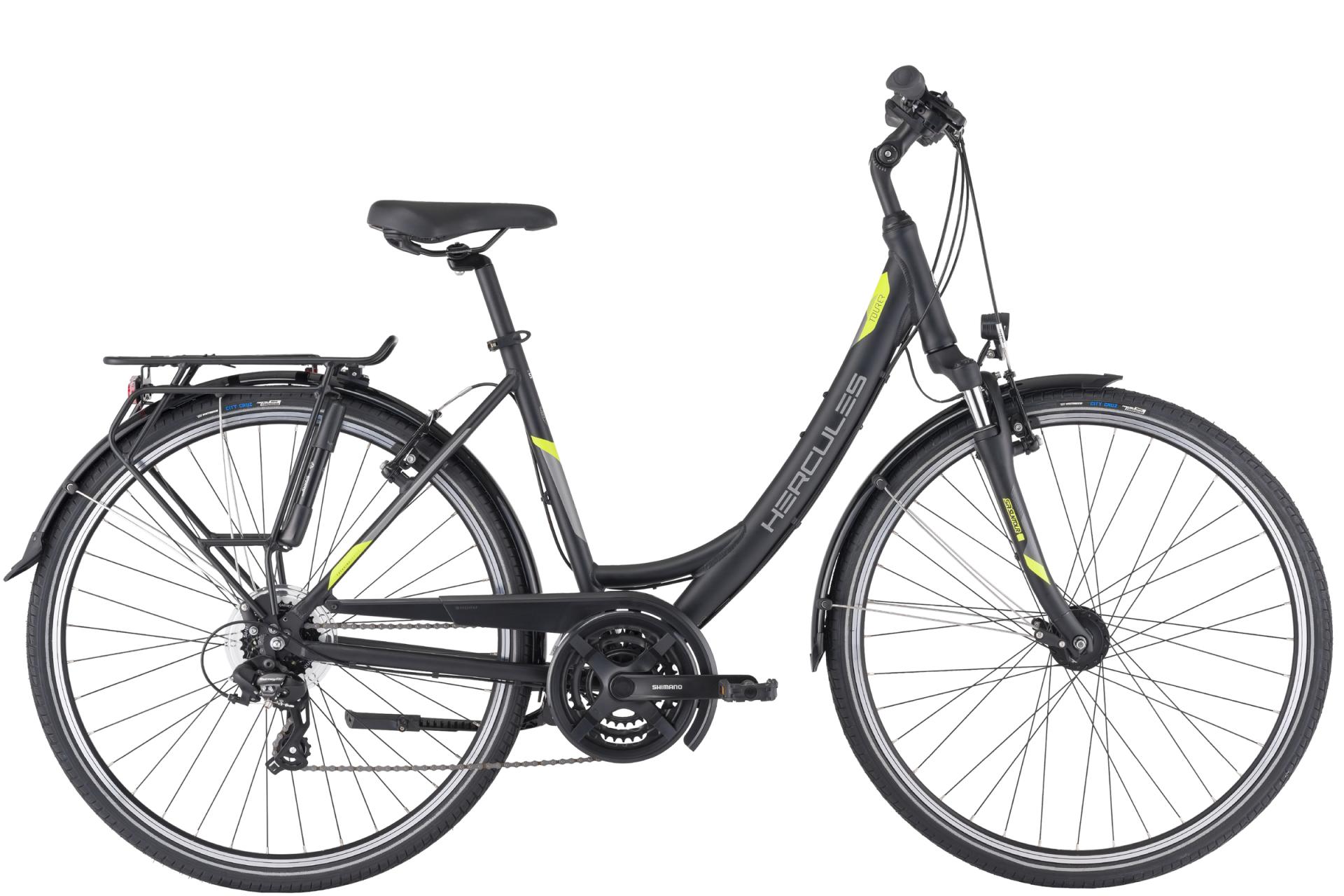 HERCULES Tourer 21 ZR női trekking kerékpár - matt fekete - 46 cm (2021)