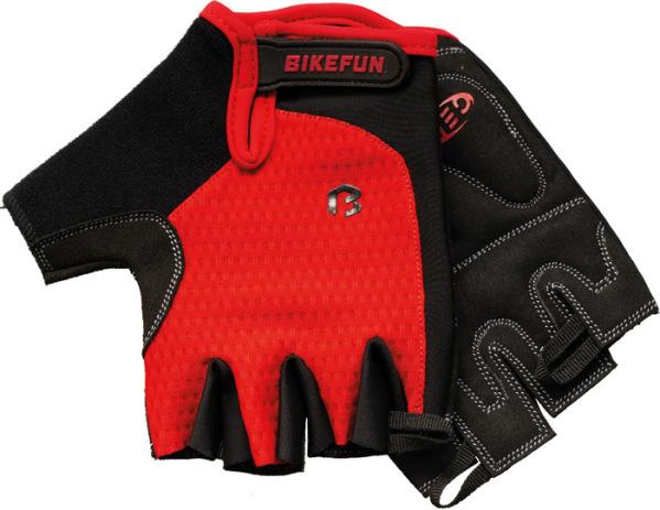 Bikefun Missy rövid ujjú kesztyű - piros - XL