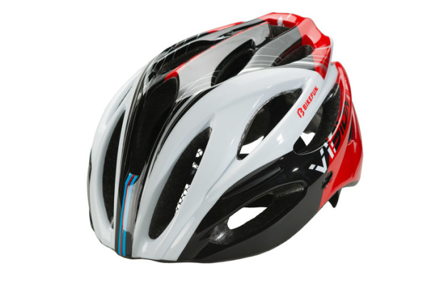 Bikefun Vision sisak - piros/fekete/fehér - L