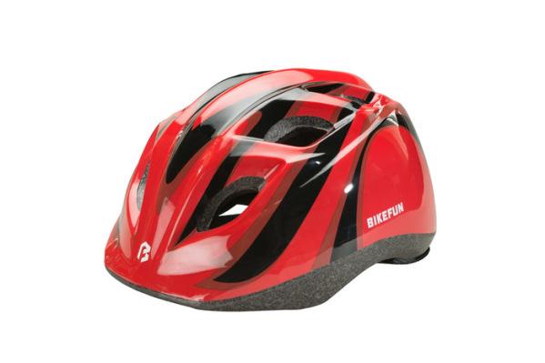 Bikefun Junior sisak - piros/fekete - M