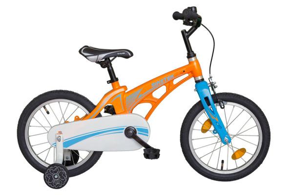 Biketek Magnézium 16 gyermek kerékpár - narancs/kék