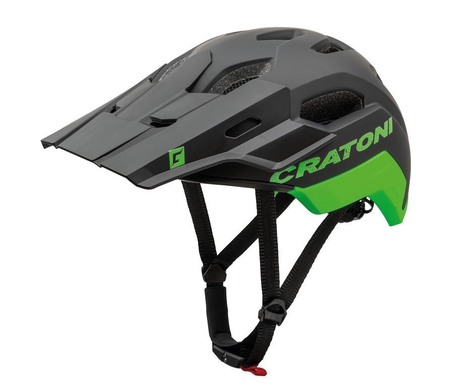 Cratoni C-Maniac 2.0 Trail sisak - matt fekete/zöld - L/XL (58-61 cm)