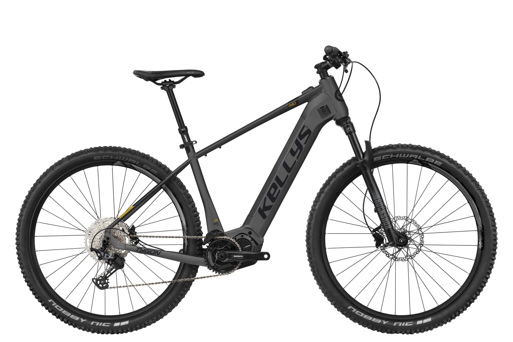 """KELLYS Tygon R90 férfi 29"""" MTB pedelec kerékpár - antracit - XL (2021)"""