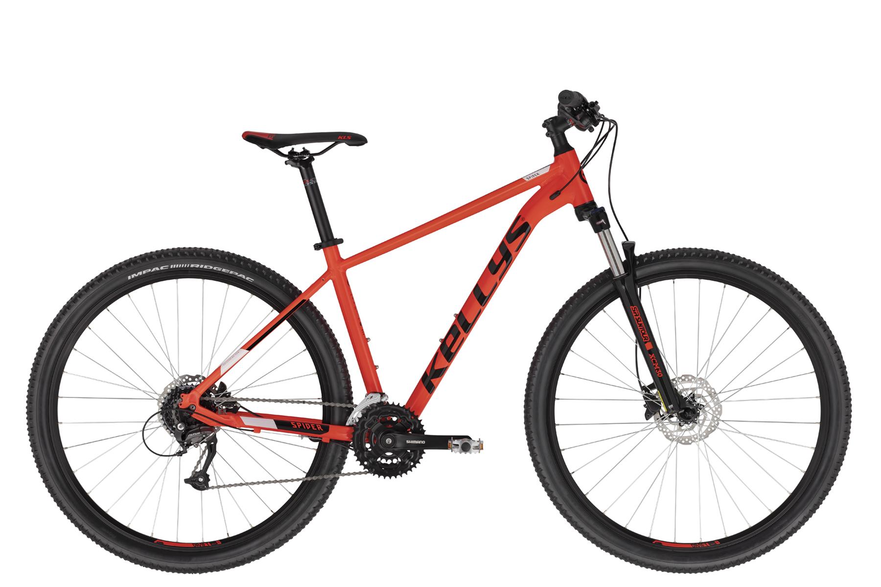 """KELLYS Spider 50 férfi 29"""" MTB kerékpár - piros - L (2021)"""