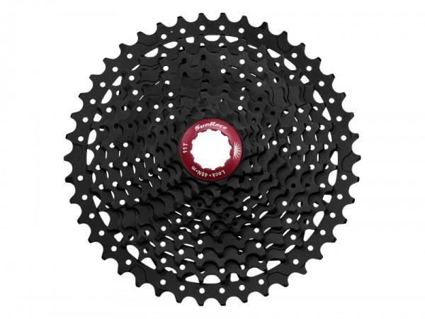 Sunrace CSMX3 10AX 10 sebességes fogaskeréksor [fekete-piros, 11-40]