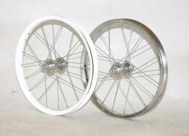 """Fűzött első kerék 16"""" BMX Tommy, acél ezüst/fekete"""