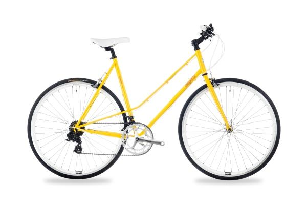 Csepel Torpedo 3* női fitness kerékpár - sárga - 57