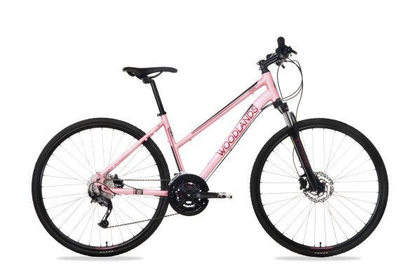 Csepel Woodlands Cross 1.1 700C női cross kerékpár - rózsa - 17