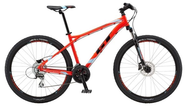 "GT Aggressor Expert férfi 27.5"" MTB kerékpár - piros - L (2018)"