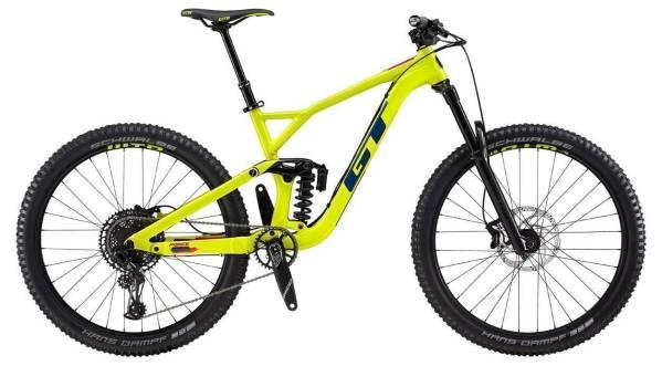 """GT Force Elite férfi 27,5"""" összteleszkópos MTB kerékpár - sárga - M (2019)"""