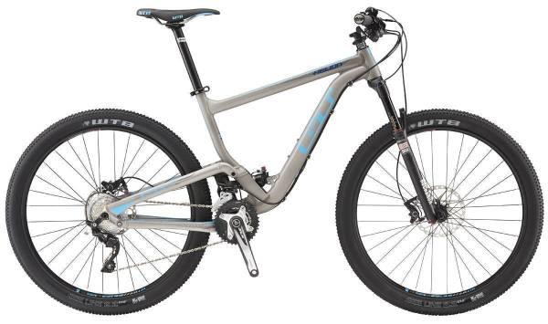 """GT Helion Expert 27.5"""" összteleszkópos MTB kerékpár - szürke - M (2016)"""