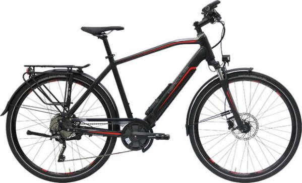 Hercules Alassio Pro 10 férfi trekking pedelec kerékpár - matt fekete - 53 (2018)