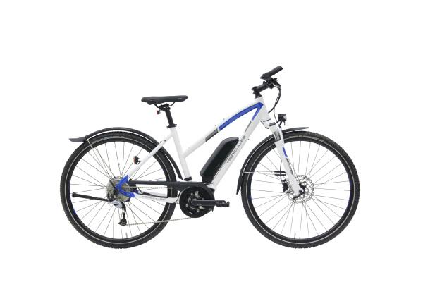 Hercules Rob Cross Sport 8.2 TR 400Wh női pedelec cross kerékpár - fényes fehér/kék - 52 cm (2019)