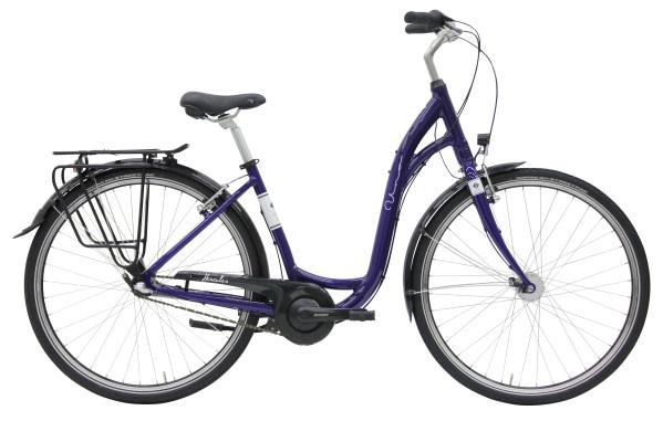 Hercules Uno R3 női 28 városi kerékpár - fényes lila - 43 cm (2019)