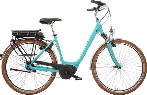 Hercules Urbanico F8 400Wh női városi pedelec kerékpár - türkiz - 54 (2018)
